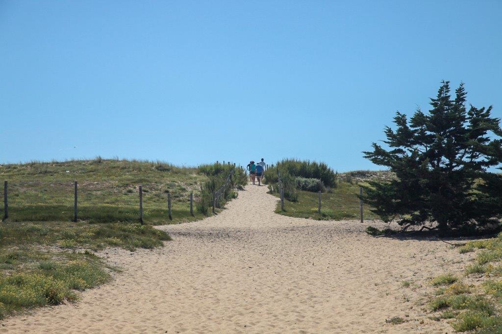 accès plage de St Hilaire de Riez
