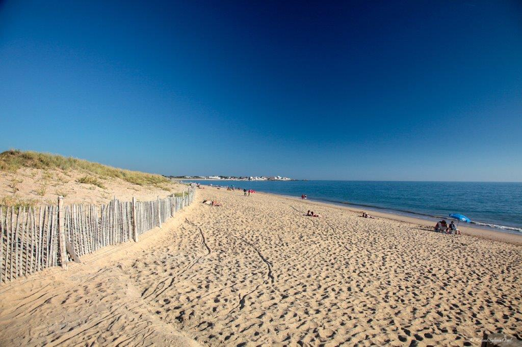 vue de la plage en Vendée