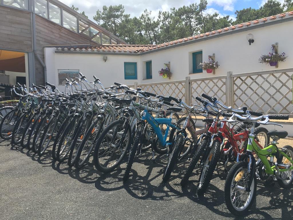 location vélo camping 5* les Chouans à St Hilaire de Riez