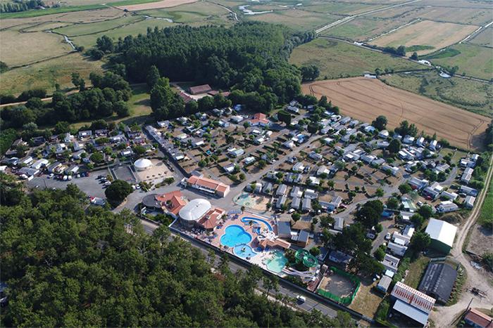 Vue aérienne du parc aquatique Les Chouans Vendée